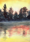 Morning Glow Original Watercolor Painting