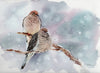 Mourning Doves Original Watercolor Painting