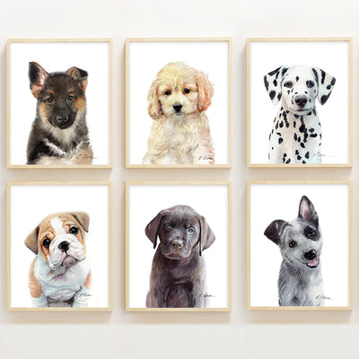 Paw Patrol Puppies | Set of 6 Digital Prints