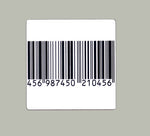 Label RF 8.2 MHz Barcode Checkpoint 1.5 inch