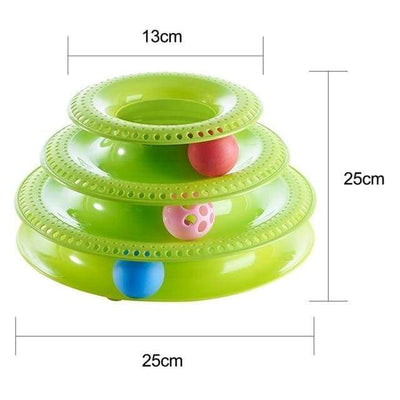 """Rock & Roll"" Cat Tower Toy iPetUniversal Green International"