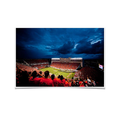 Virginia Tech Hokies Lane Stadium Night Photo Print