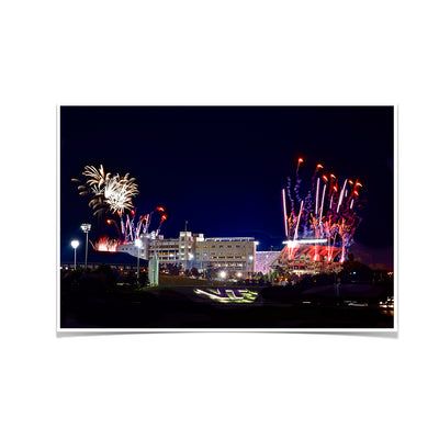 Virginia Tech Hokies - Fireworks over Lane