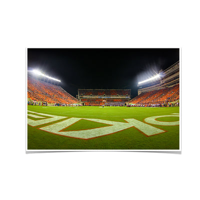 Virginia Tech Hokies - Hokie Fish Eye End Zone