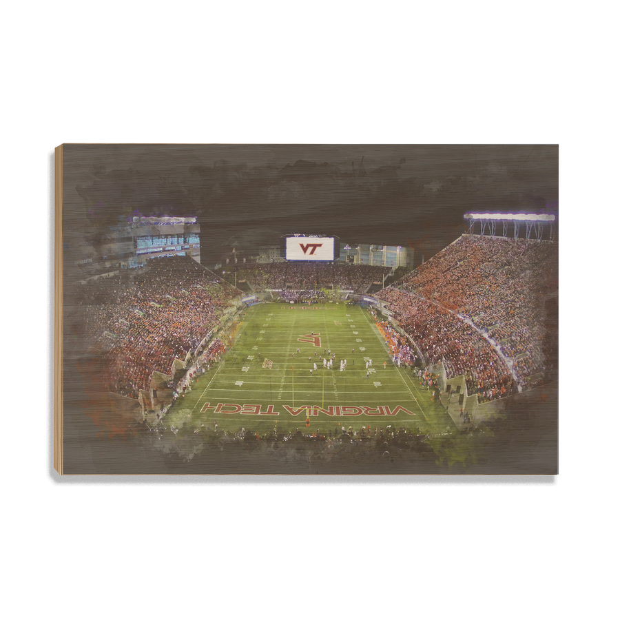 Virginia Tech Hokies - Lane Stadium Watercolor