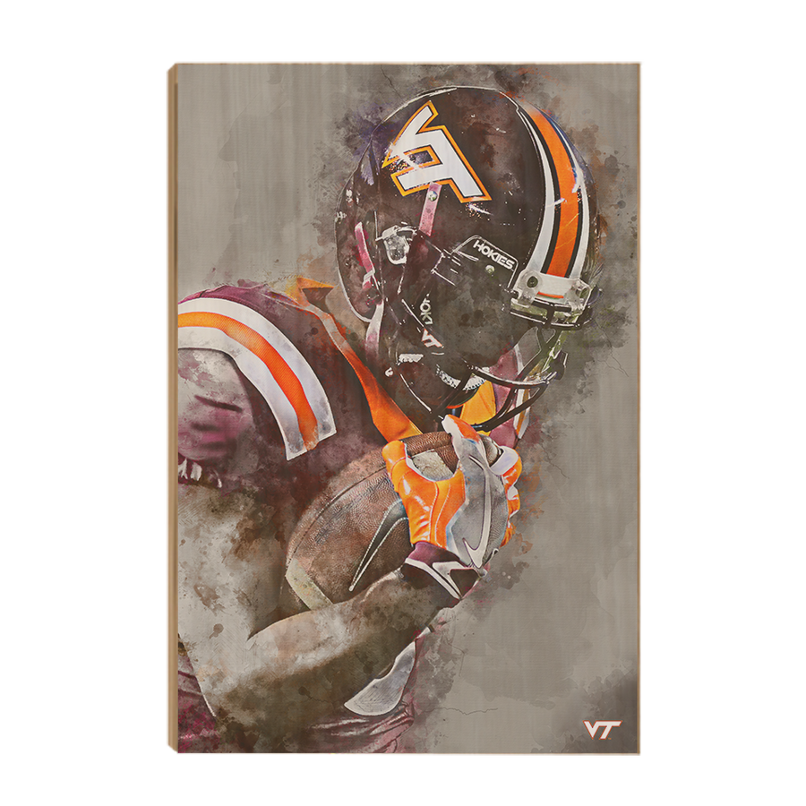 Virginia Tech Hokies - VT Watercolor