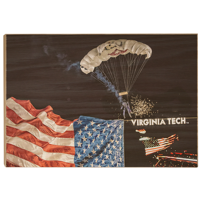 Virginia Tech Hokies - American Flag Entrance into Lane Stadium
