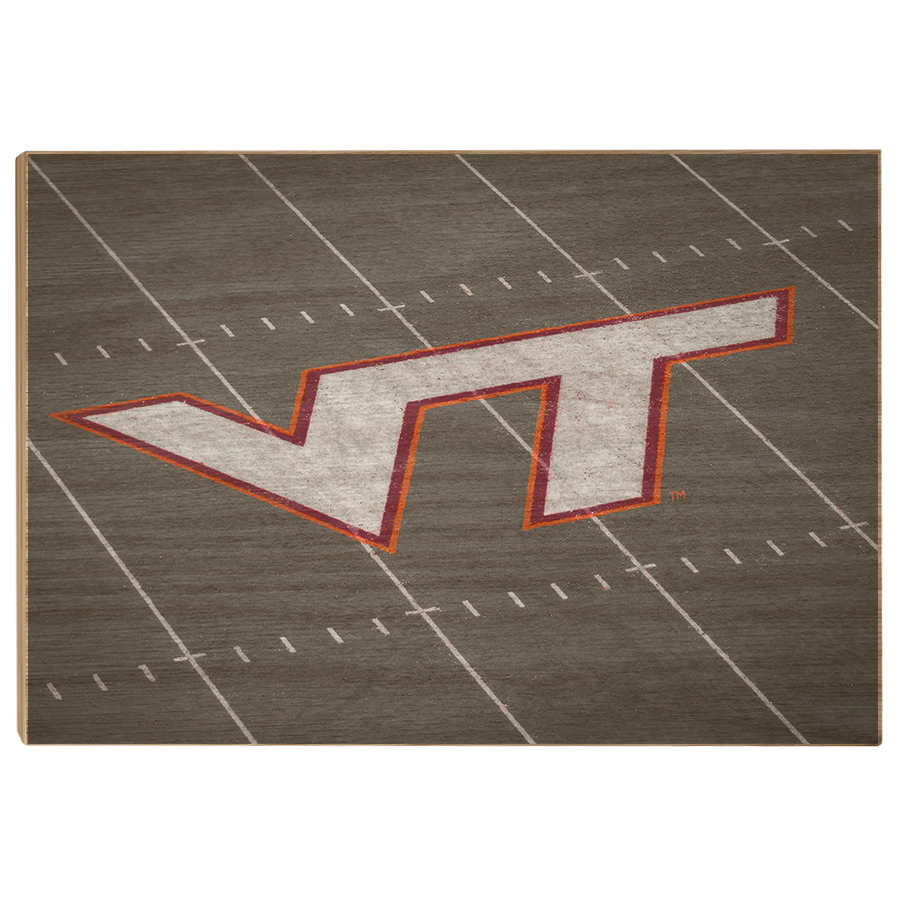 Virginia Tech Hokies - VT 50 Yard Line