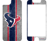 OtterBox Clear Symmetry Series Phone case with Houston Texans Alpha Glass Screen Protector