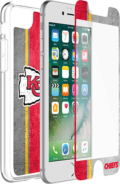 OtterBox Clear Symmetry Series Phone case with Kansas City Chiefs Alpha Glass Screen Protector