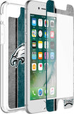 OtterBox Clear Symmetry Series Phone case with Philadelphia Eagles Alpha Glass Screen Protector