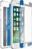 OtterBox Clear Symmetry Series Phone case with Detroit Lions Alpha Glass Screen Protector