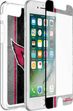 OtterBox Clear Symmetry Series Phone case with Arizona Cardinals Alpha Glass Screen Protector
