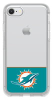 OtterBox Clear Symmetry Series Phone case with Miami Dolphins Logo