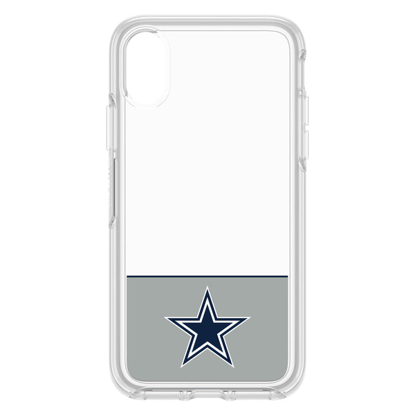OtterBox Clear Symmetry Series Phone case with Dallas Cowboys Logo
