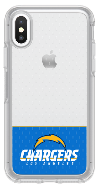 OtterBox Clear Symmetry Series Phone case with Los Angeles Chargers Logo