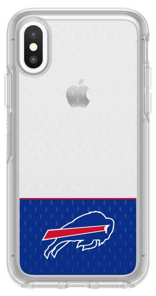 OtterBox Clear Symmetry Series Phone case with Buffalo Bills Logo