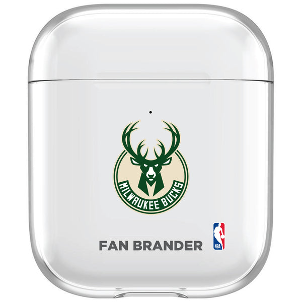 incase clear AirPod case with Milwaukee Bucks Primary Logo