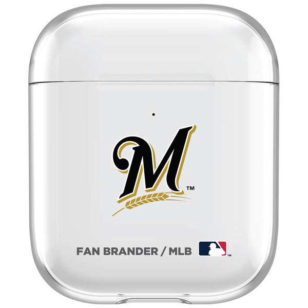 incase clear AirPod case with Milwaukee Brewers Primary Logo
