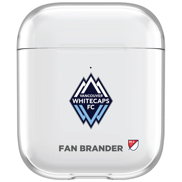 incase clear AirPod case with Vancouver Whitecaps FC Primary Logo