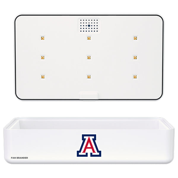 Portable UV Smart Phone Sterilizer with Fast Wireless Charger with Arizona Wildcats Primary Logo