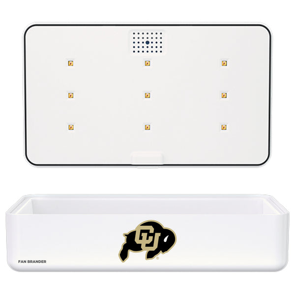 Portable UV Smart Phone Sterilizer with Fast Wireless Charger with Colorado Buffaloes Primary Logo