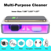 Portable UV Smart Phone Sterilizer with Fast Wireless Charger with Hampden Sydney Primary Logo