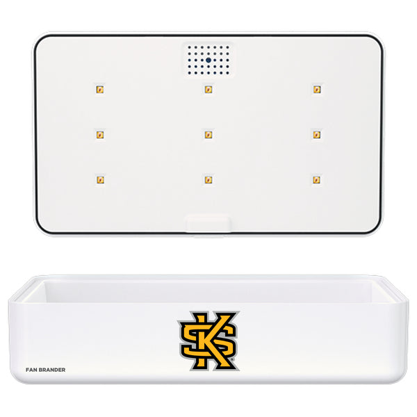 Portable UV Smart Phone Sterilizer with Fast Wireless Charger with Kennesaw State Owls Primary Logo