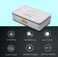 Portable UV Smart Phone Sterilizer with Fast Wireless Charger with LA Lakers Primary Logo