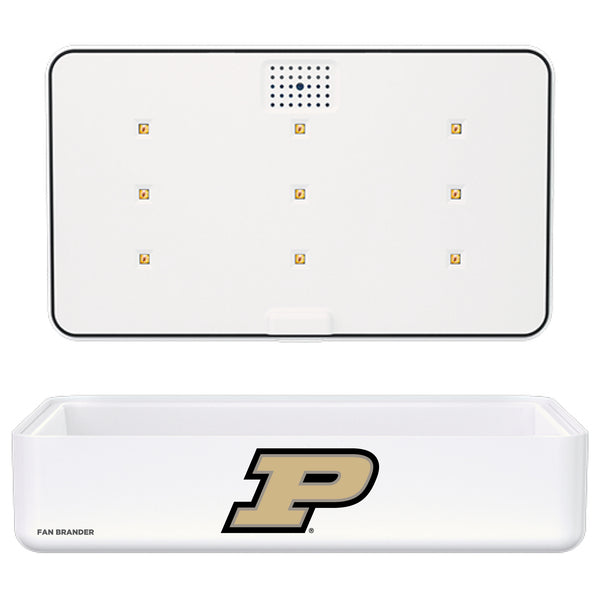 Portable UV Smart Phone Sterilizer with Fast Wireless Charger with Purdue Boilermakers Primary Logo