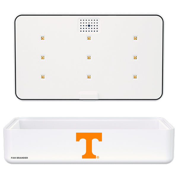 Portable UV Smart Phone Sterilizer with Fast Wireless Charger with Tennessee Vols Primary Logo