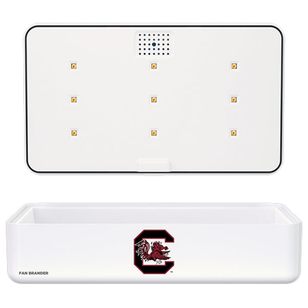 Portable UV Smart Phone Sterilizer with Fast Wireless Charger with South Carolina Gamecocks Primary Logo