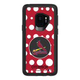 OtterBox Black Phone case with St. Louis Cardinals Polka Dot Design