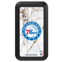 Black HANDLstick with Philadelphia 76ers Primary Logo with White Marble Design