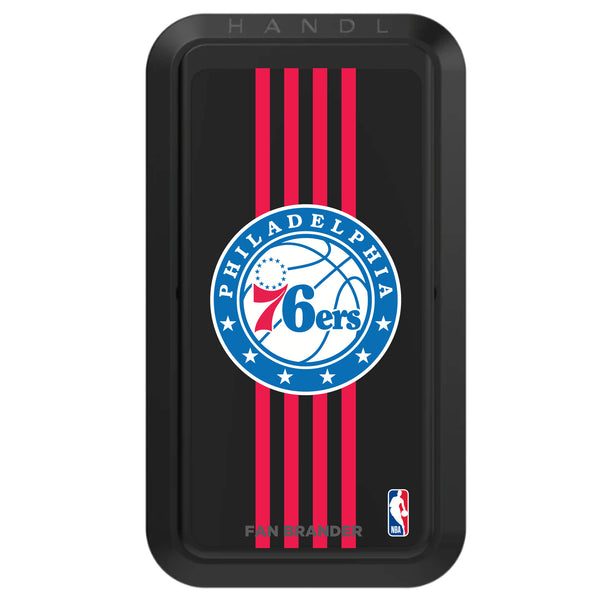 Black HANDLstick with Philadelphia 76ers Primary Logo with Vertical Stripe