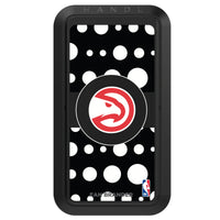 Black HANDLstick with Atlanta Hawks Primary Logo with Polka Dots