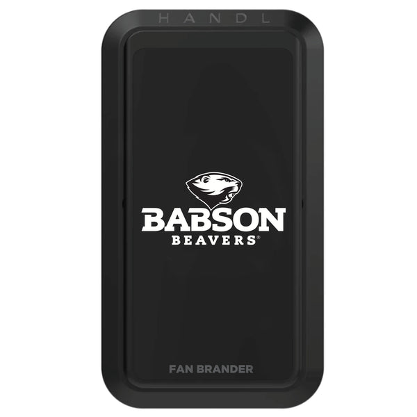 Black HANDLstick with Babson University Primary Logo