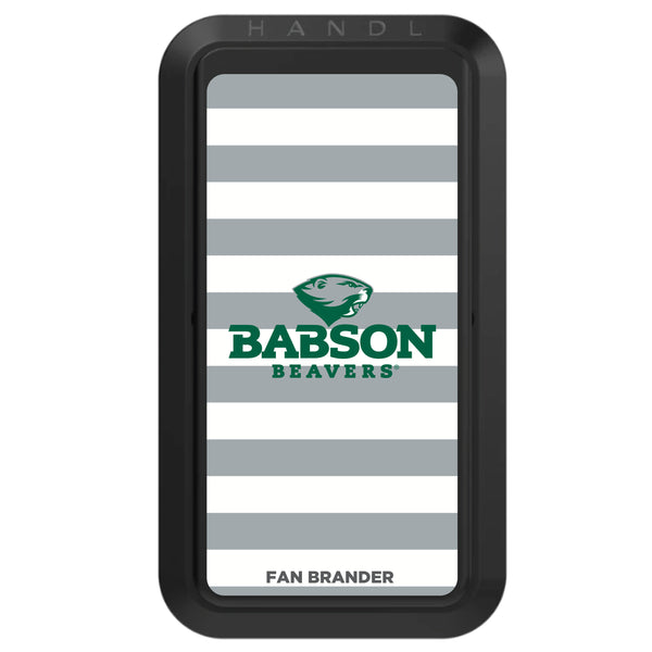 Black HANDLstick with Babson University Primary Logo with Stripes
