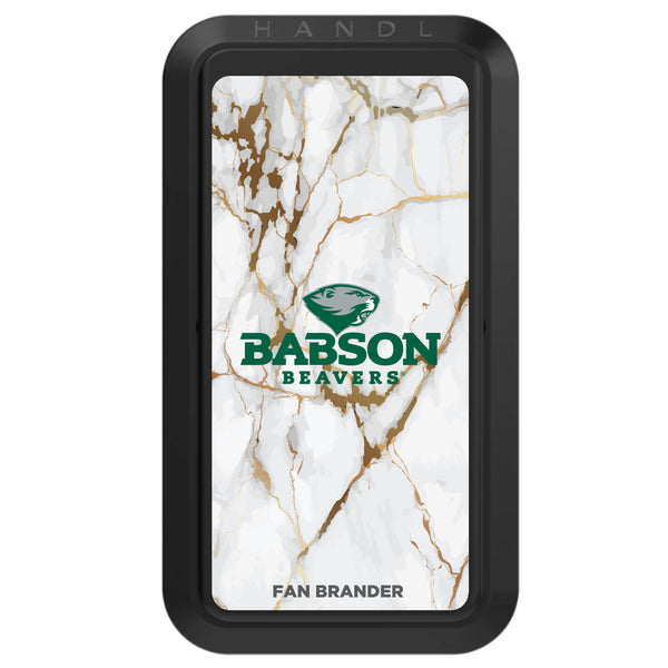 Black HANDLstick with Babson University Primary Logo with White Marble