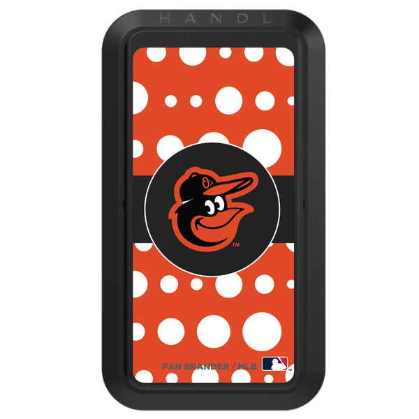 Black HANDLstick with Baltimore Orioles Polka Dots