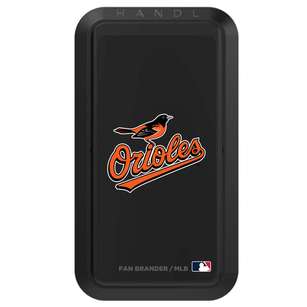 Black HANDLstick with Baltimore Orioles Secondary Logo