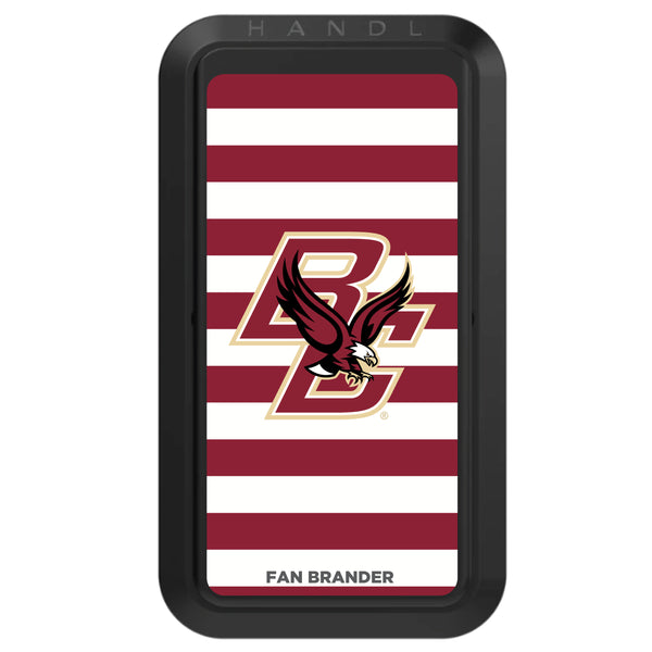 Black HANDLstick with Boston College Eagles Primary Logo with Stripes