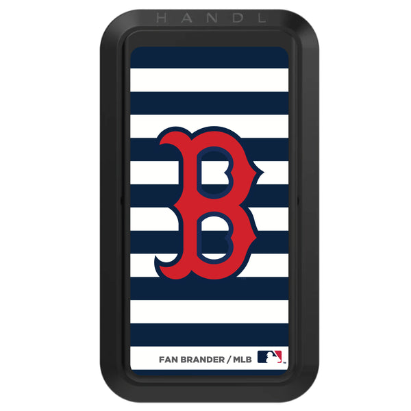 Black HANDLstick with Boston Red Sox Stripes design