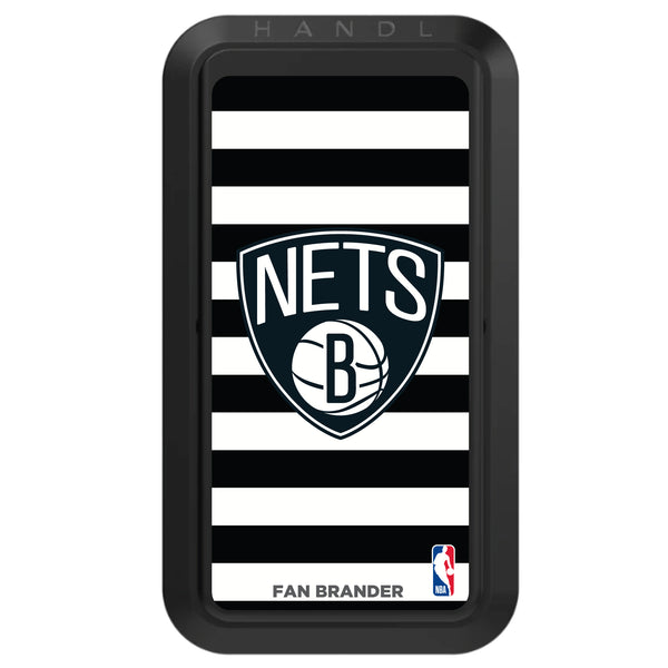 Black HANDLstick with Brooklyn Nets Primary Logo with Stripes