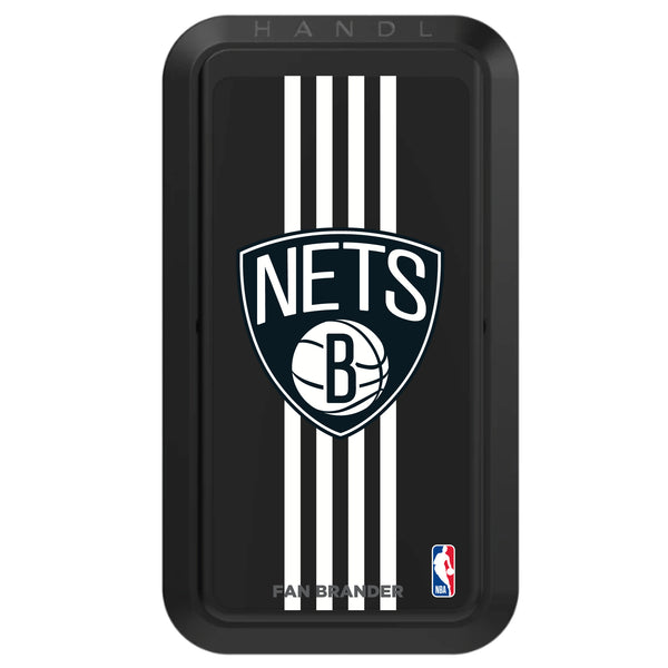 Black HANDLstick with Brooklyn Nets Primary Logo with Vertical Stripe
