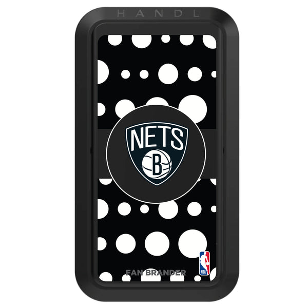 Black HANDLstick with Brooklyn Nets Primary Logo with Polka Dots