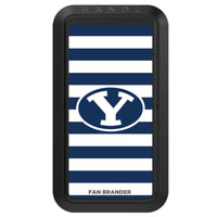 Black HANDLstick with Brigham Young Cougars Primary Logo with Stripes