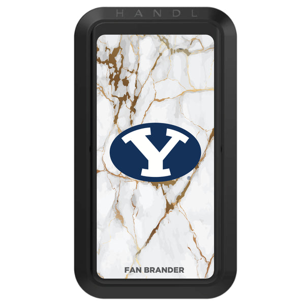 Black HANDLstick with Brigham Young Cougars Primary Logo with White Marble