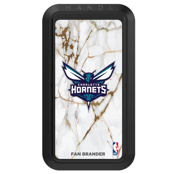 Black HANDLstick with Charlotte Hornets Primary Logo with White Marble Design