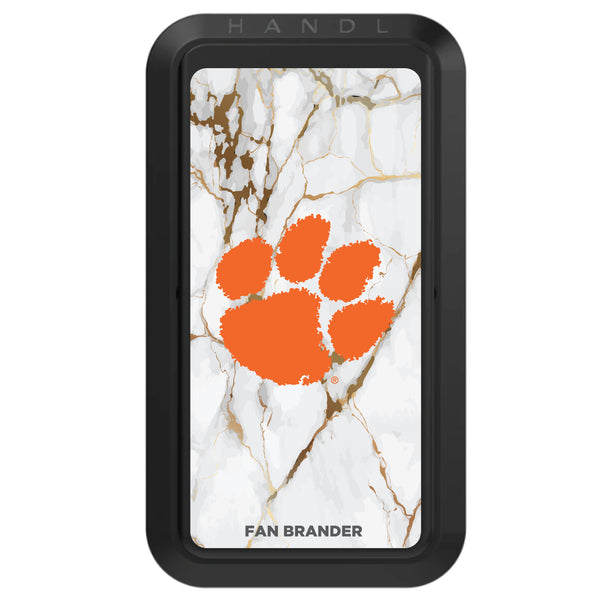 Black HANDLstick with Clemson Tigers Primary Logo with White Marble
